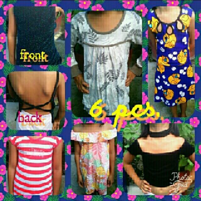 preloved girls apparel 6pcs all for 199
