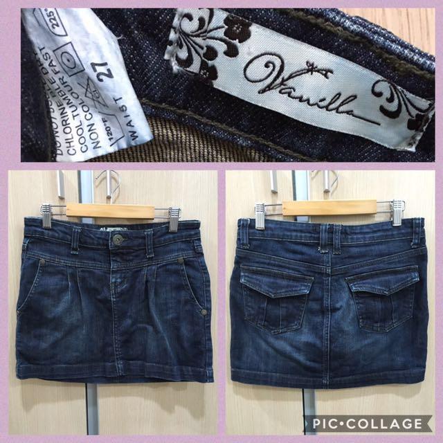 Pre-loved Guess and Vanilla Denim Mini skirt