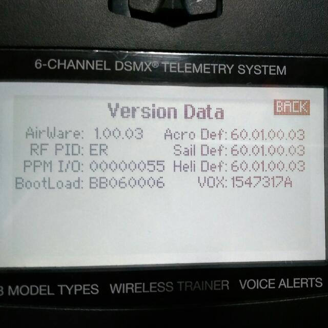 Spektrum Dx6 G2, faulty condition