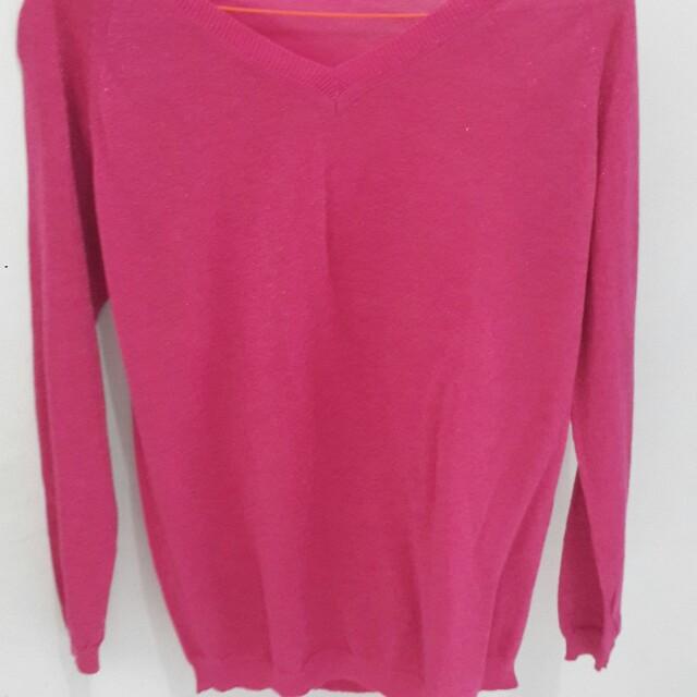 Sweater glitter pink