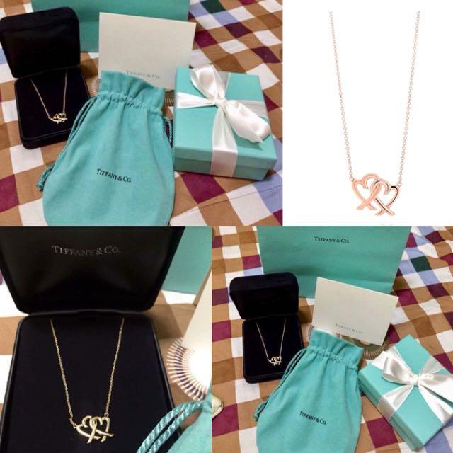 Tiffany Loving Heart interlocking pendant Rose Gold.