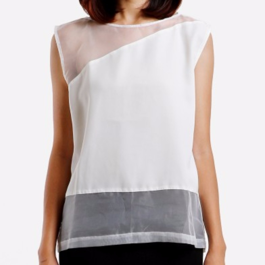 Top with Sheer Panels S, M, L