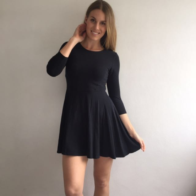 TOPSHOP Black Jersey Dress