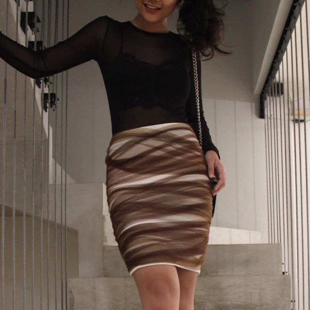 Tulle Bodycon Skirt