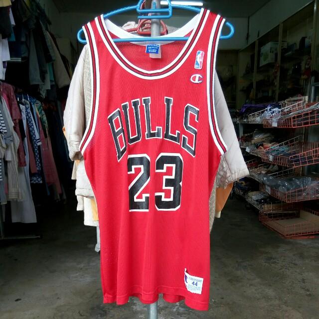 pretty nice 5203a fb17f Vintage 80's 90's Champion Chicago Bulls Michael Jordan Jersey
