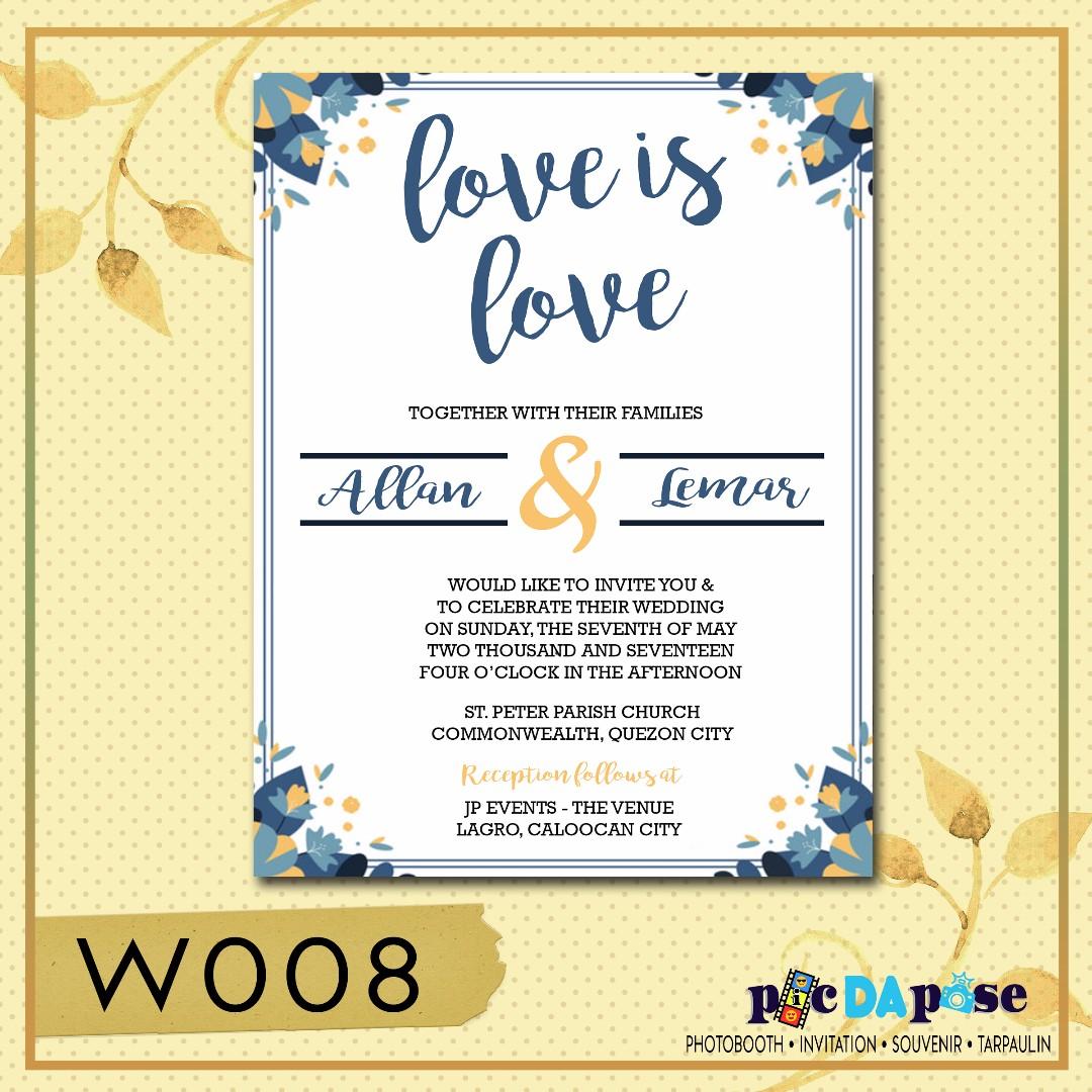 Wedding invitation w008 design craft others on carousell photo photo photo stopboris Gallery