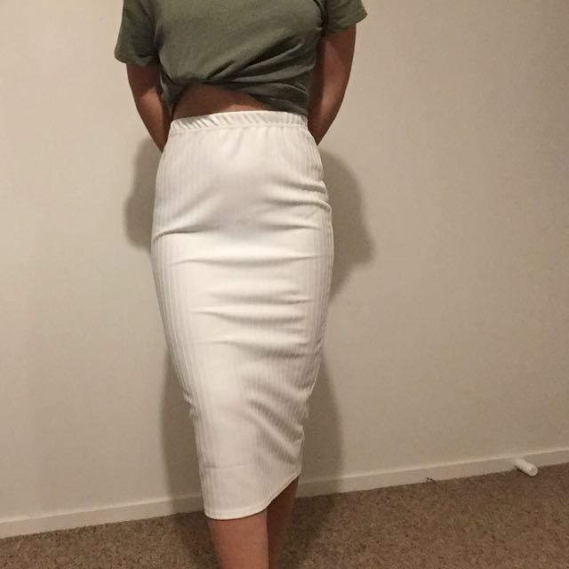 White mid Skirt