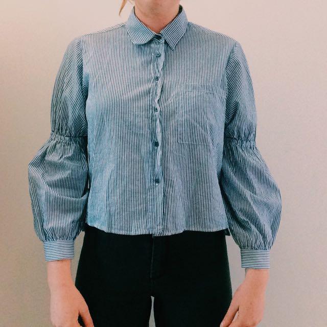 ZARA Collard Shirt