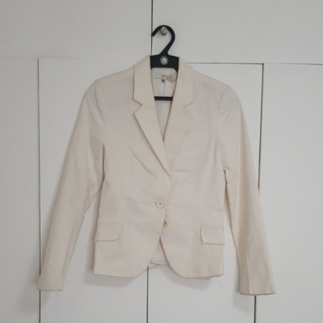 ZARA MEDIUM OFF-WHITE BLAZER