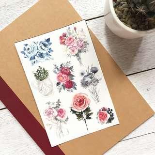 Floral Sticker Set
