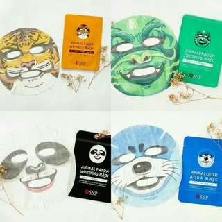 SNP ANIMAL FACIAL SHEET MASK / MASKER WAJAH SNP ANIMAL