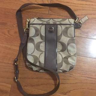 Coach over shoulder small purse