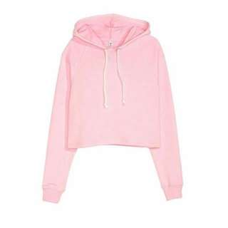 H&M Crop Hooded Pink