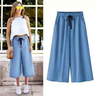Culotte Soft Denim Pants