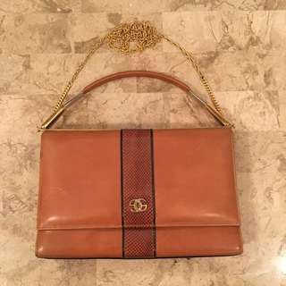 Real leather/snakeskin purse