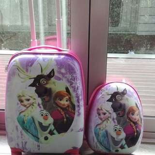 Kids suitcase and backbag