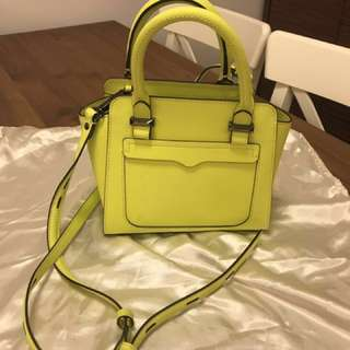 Rebecca Minkoff yellow Leather Handbag