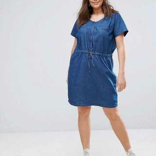 Plus Size Soft Denim Dress