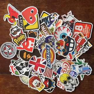 Mix Lot Of 50 Stickers