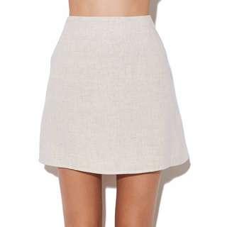 Linen Mini Skirt (Size 12)