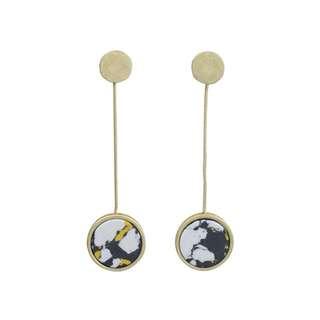 Brand new vintage marble earrings