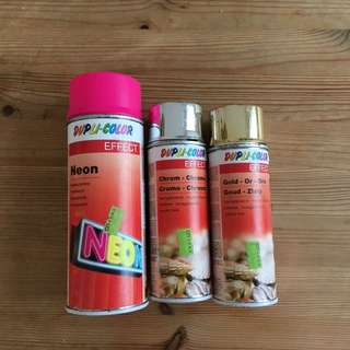 Duplo color effect paint spray 金銀瑩光 顏色噴油 original price$235