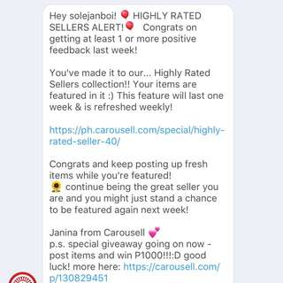 Thank you Carousell! Thank you Buyers and Carousellers!