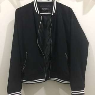 Cotton on black bomber jacket