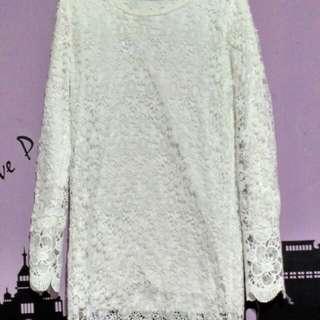 Snowy Lace Dress