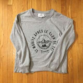 AE- soft grey sweater