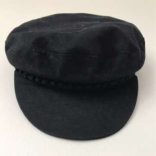 Black Fiddler Cap (S/M)