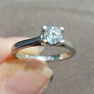 Solitaire diamond engagement ring  (Platinum diamond wedding ring also available)
