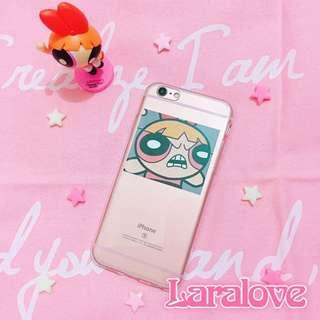 超取免運💞飛天小女警憤怒の花花卡片透明手機殼 少女心 iPhone 7 8 Sony Oppo Asus Samsung