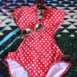 Monokini polkadot one piece