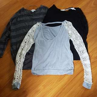 Long Sleeve Tops Size 8-10 #under15