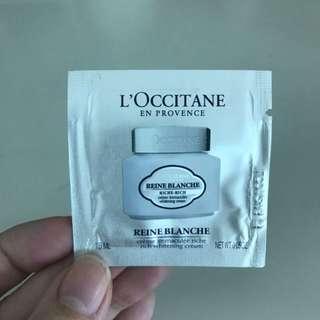 L'occitane whitening cream (sample)