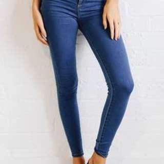 Wrangler Hi Pins Dark Wash High Rise Skinny Jeans