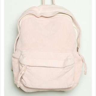 <Not Selling ATM> Brandy Melville - Pink Mini Corduroy Backpack Bag