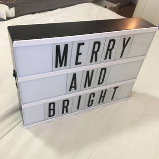 Typo A4 Light Box w/ Black Letter Set (DIY Sign)