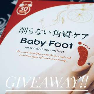 Baby Foot Giveaway!!