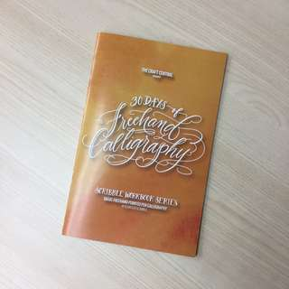 Freehand Pointed Pen Calligraphy Workbook