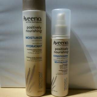 Aveeno - Positively Nourishing Conditioner and Leaving In Conditioner