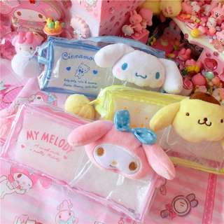 Sanrio Transparent Pencil Case with small pocket