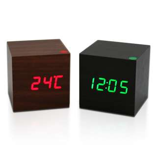 **LOCAL SELLER** [Wooden LED Clock] High Quality Alarm Clocks with Thermometer - 1stshop singapore