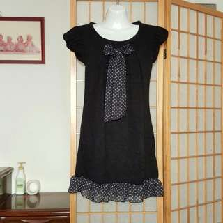 初秋款 黑色針織甜美小洋裝#我的女裝可超取