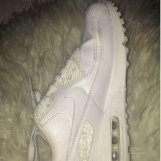 White Nike Air Max Shoes