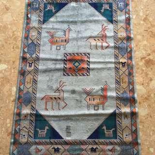 Bohemian blue rug
