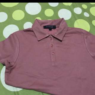 Old rose polo shirt