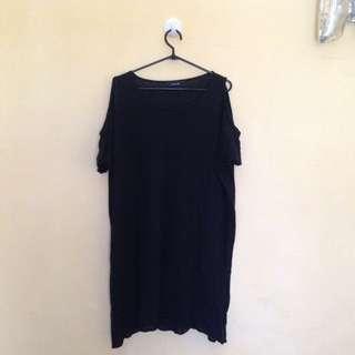 Dress hitam rajut