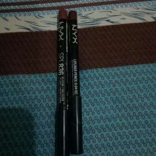 Authentic Nyx lipliners in bloom and deep red(bundle)